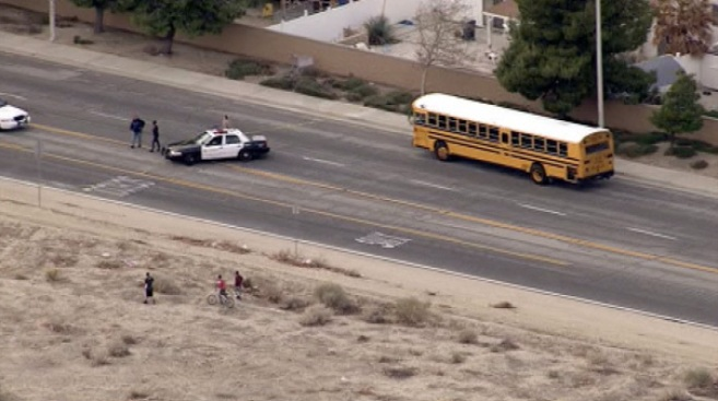 School Bus Strikes, Kills Teen Riding His Bicycle in Palmdale