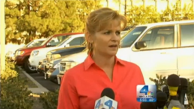 A pair of San Bernardino County Sheriff's deputies were struck by gunfire during an exchange with a man believed to be fugitive Christopher Dorner. One of those deputies died from his injuries. San Bernardino County Sheriff's Department spokeswoman Jodi Miller says the