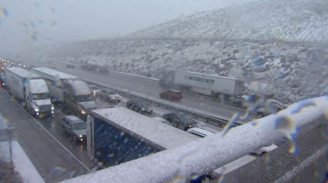 Grapevine Section of 5 Freeway Reopens After Being Shut Down by Snow