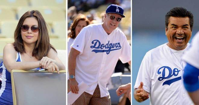 [LA GALLERY] Celebrities in the Stands: Dodgers Edition