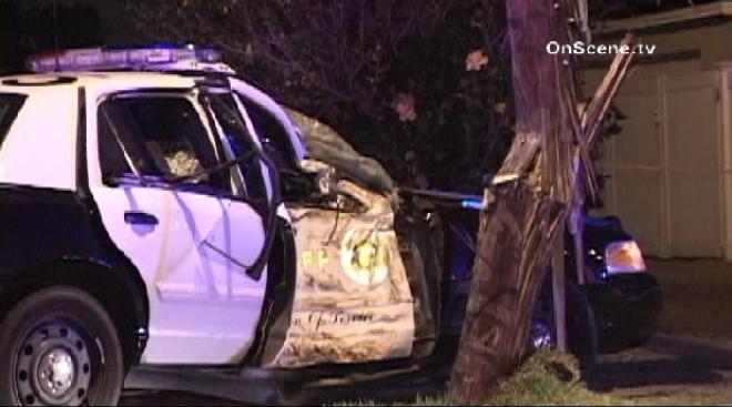4 Deputies Injured in Pico Rivera Patrol Car Crash