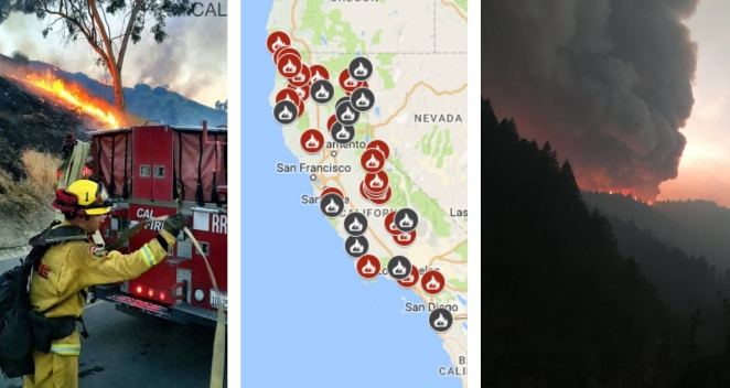 Map: See Where Wildfires Are Burning in California