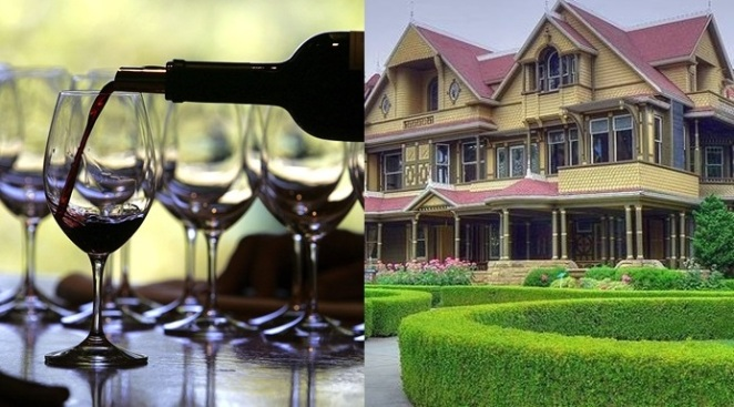 Wine Tasting at the Winchester Mystery House