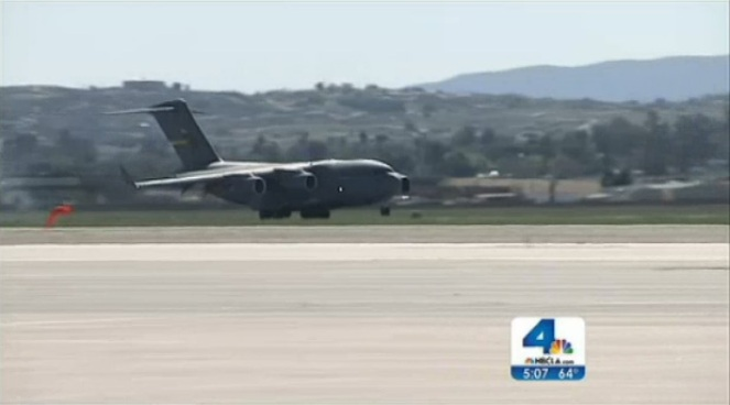 Marines at March Air Reserve Base in Riverside County are