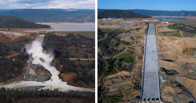 [LA GALLERY Updated 2/26/2018] Photos: What It Takes to Repair a Damaged Spillway at the Nation's Tallest Dam