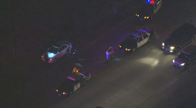 Cops Search for Gunman in Freeway Shooting