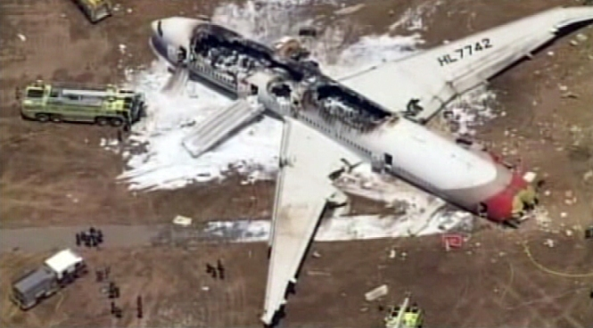 Two people were killed and 182 were hospitalized after Asiana Airlines Flight 214 from Seoul, South Korea, crashed and burst into flames at San Francisco International Airport.