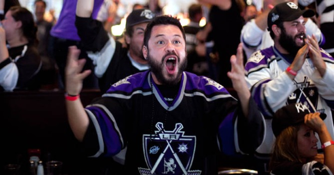 At Home or on the Road, Fans Cheer on the LA Kings