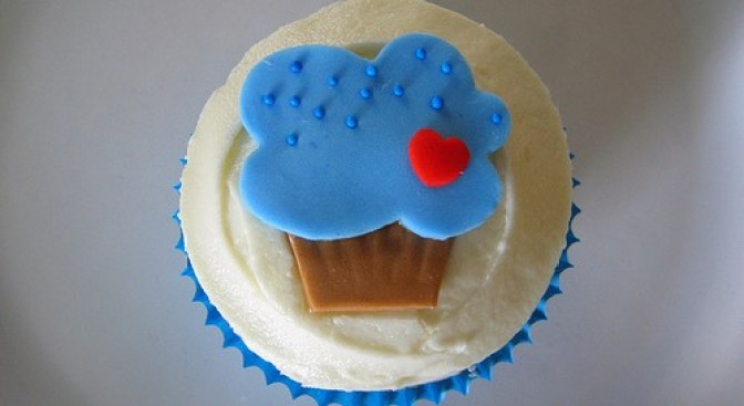 Blue Cupcake Putting Us in the Pink