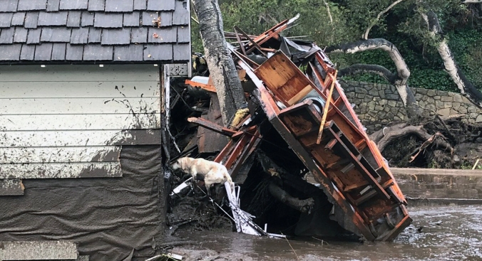 Firefighters rescue 14-year-old girl from California home destroyed by mudslides