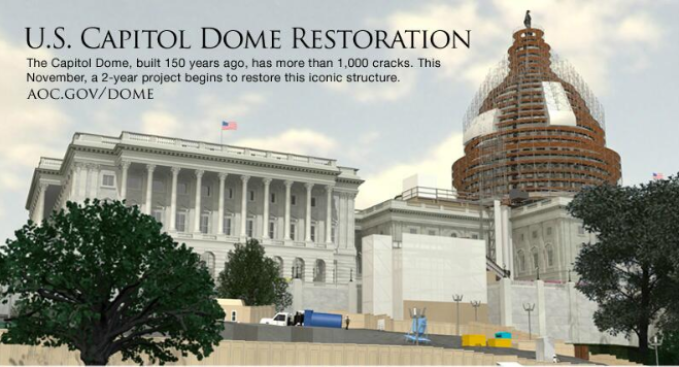 Capitol Dome to Undergo $60M Restoration
