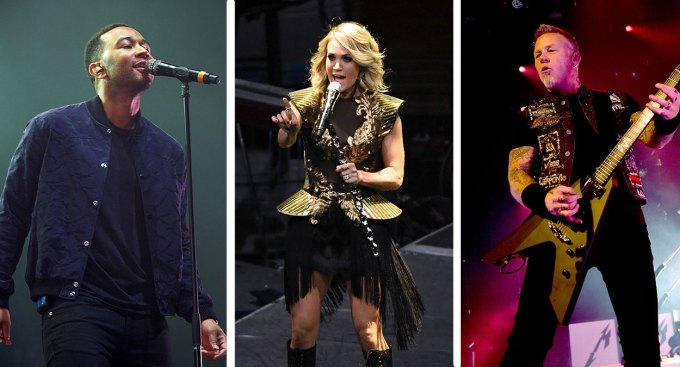 John Legend, Carrie Underwood, Metallica Set to Play Grammys