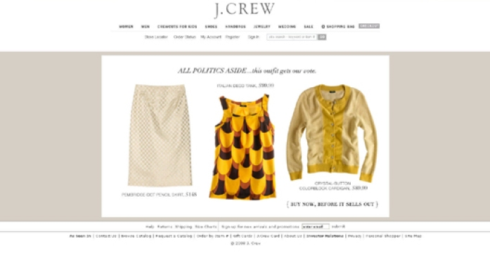 Michelle Obama's J.Crew Ensemble Hits Homepage