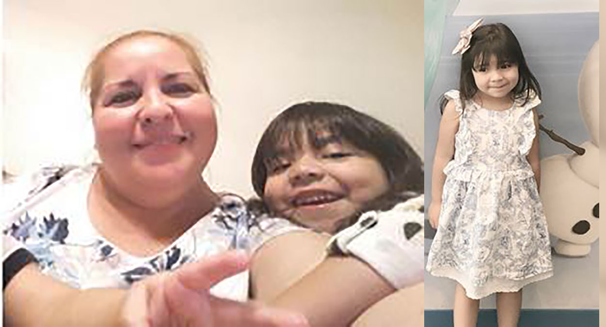 Detectives were searching for Luz Maria Garza-Ramones, pictured with her granddaughter, on Saturday, July 22, 2017. Garza-Ramones is suspected in the abduction of granddaughter Aleysha Martinez-Ruiz.