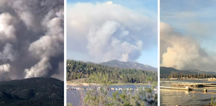 [la gallery] Fire in the Mountains: Holcomb Fire Burns Near Big Bear