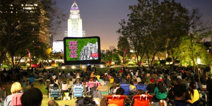City Hall-Adjacent Cinema: Free Films at Grand Park