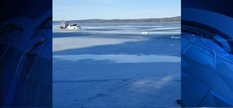 Video: Truck Falls Through Icy Lake in Wisconsin