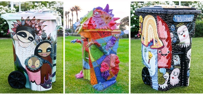 TRASHed: Coachella Recycle Bins Go on Display in LA