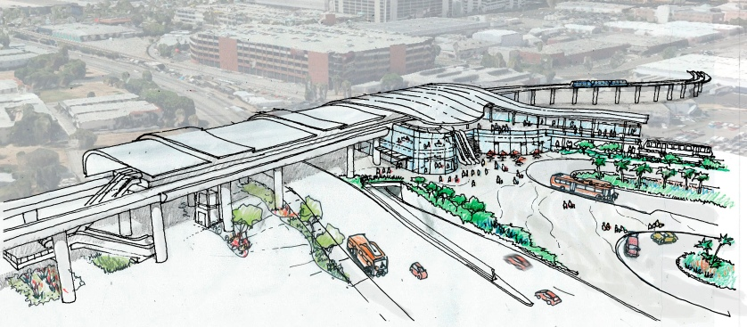 Metro Board Approves Rail to LAX Connection Station