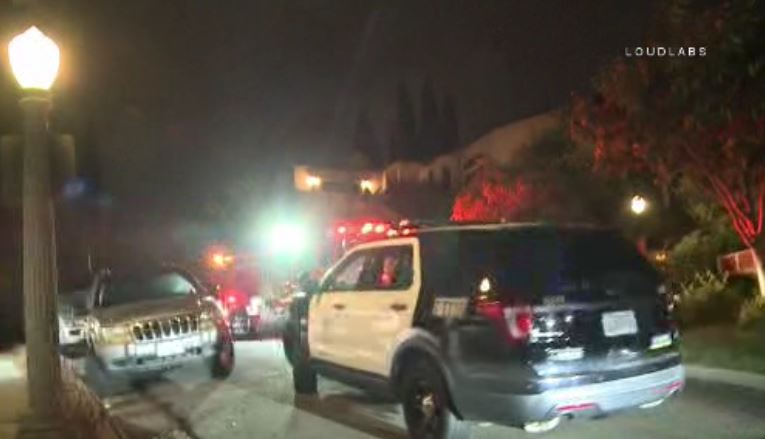At least four people were tied up for hours inside a Hollywood Hills home in an overnight robbery Monday Sept. 24, 2018.