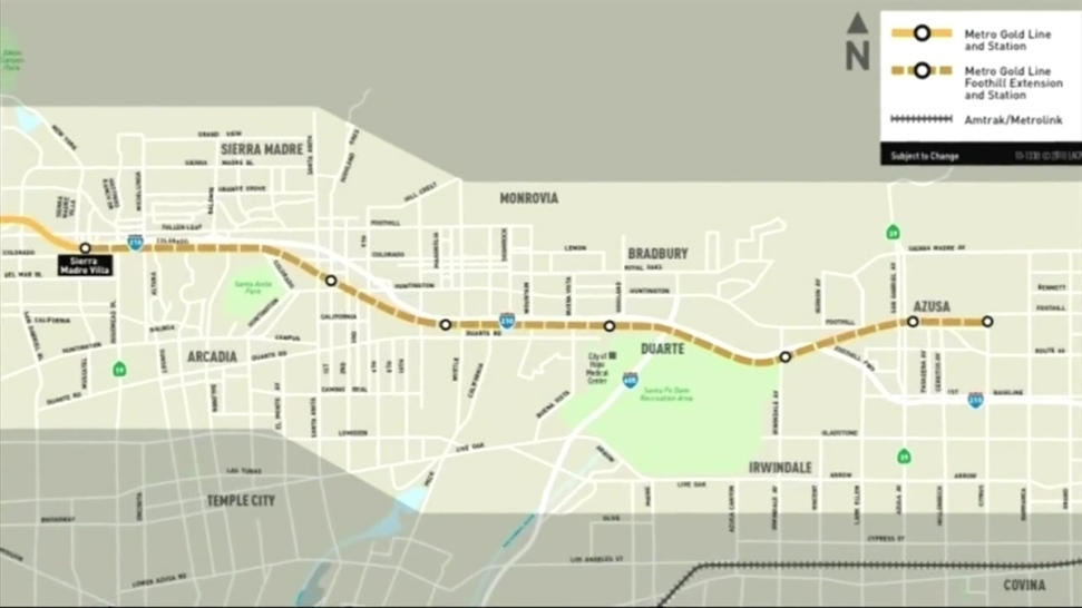 Service Begins on Metro Gold Line Extension - NBC Southern California