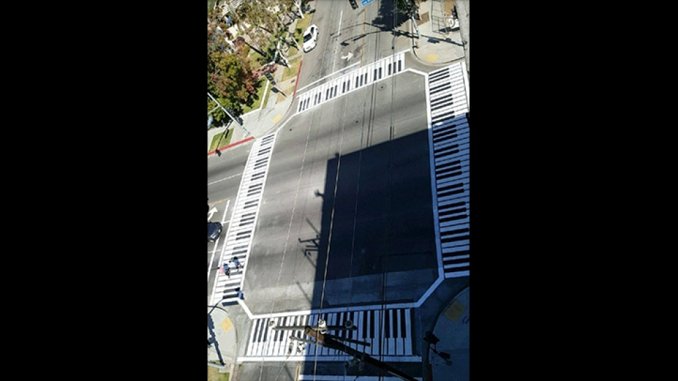 Long Beach Tunes Up Road Safety With Painted Piano Crosswalks