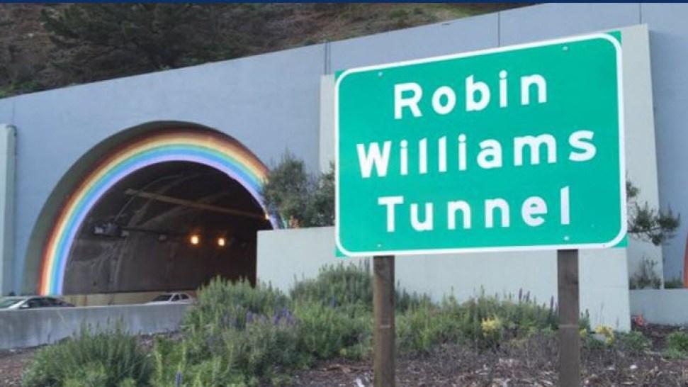 Robin Williams Rainbow-Themed Tunnel Gets New Sign