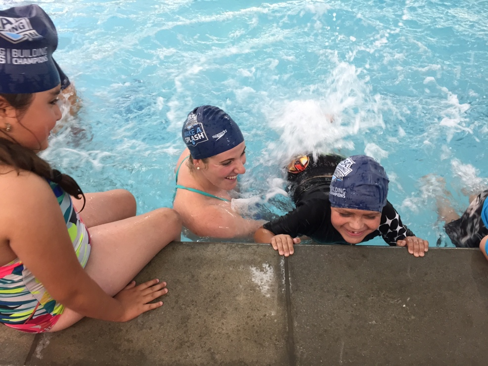 Kids Learn to Swim Under Olympic Guidance
