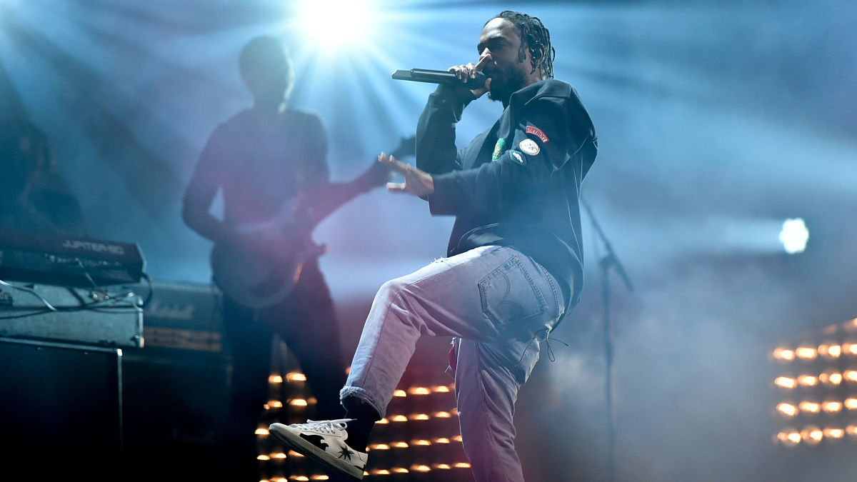 Hip-hop recording artist Kendrick Lamar performs at the 2016 Global Citizen Festival in Central Park on Saturday, Sept. 24, 2016, in New York. (Photo by Evan Agostini/Invision/AP)
