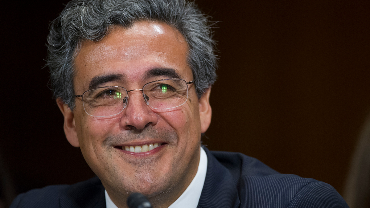 Solicitor General nominee Noel Francisco testifies before the Senate Judiciary Committee's hearing on his nomination, on Capitol Hill in Washington, Wednesday, May 10, 2017.