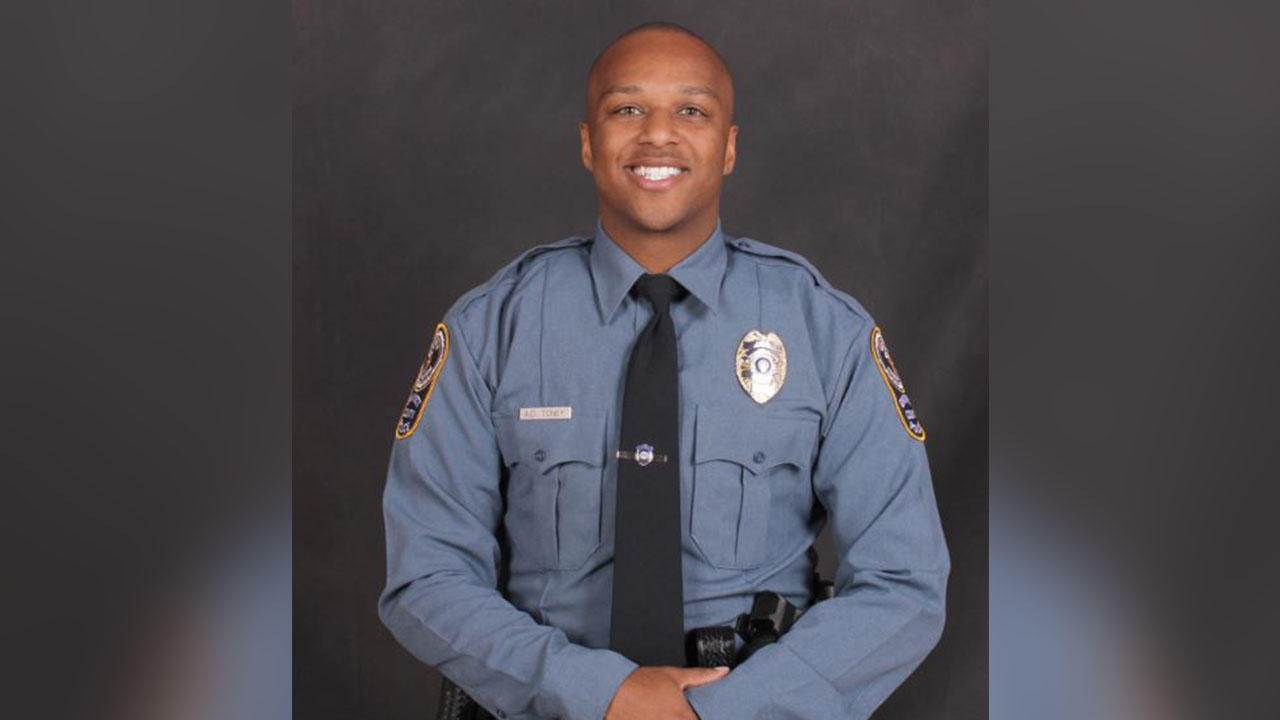 Antwan Toney, raised in Bellflower, Calif., was fatally shot while on duty as a police officer in Gwinnett County, Georgia on Saturday, Oct. 20, 2018.