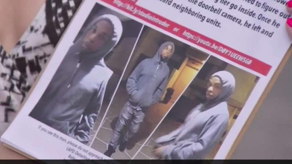 Photos of a suspect that attempted to break into a Studio City home