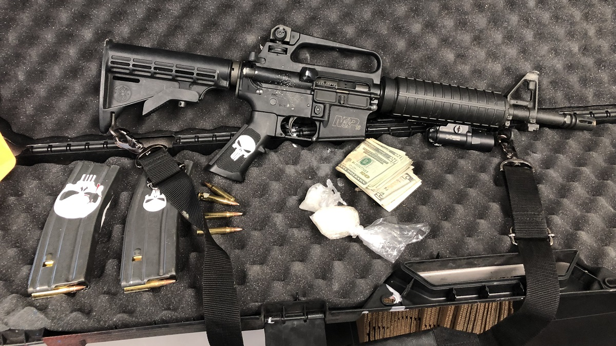 Weapons and ammunition recovered from the home of Francisco Felix, a convicted felon accused of brandishing a weapon after being denied alcohol at a BJ's restaurant.