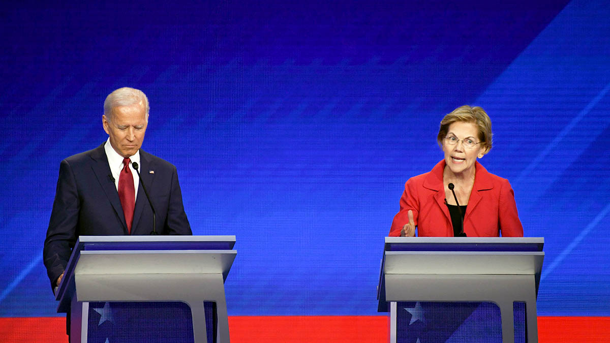 Biden Leads, Warren Gains in Dem 2020 Field: NBC/WSJ Poll