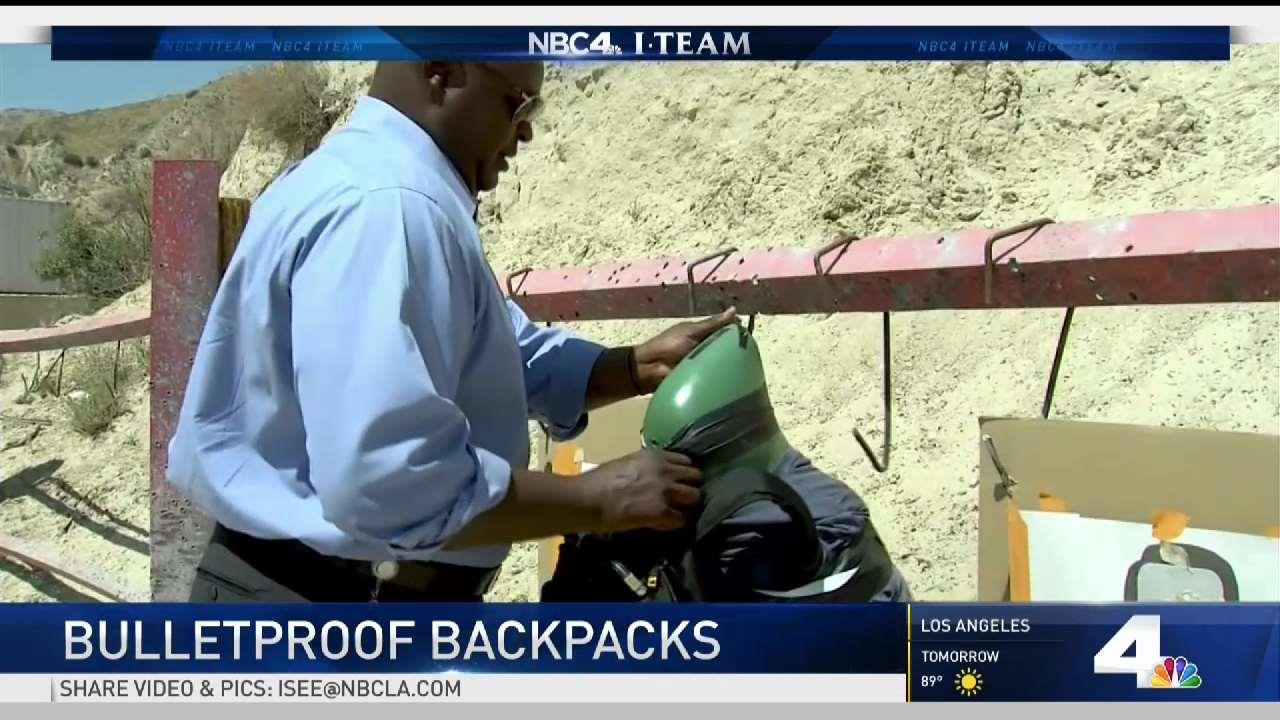 Bulletproof Backpacks Available for Students