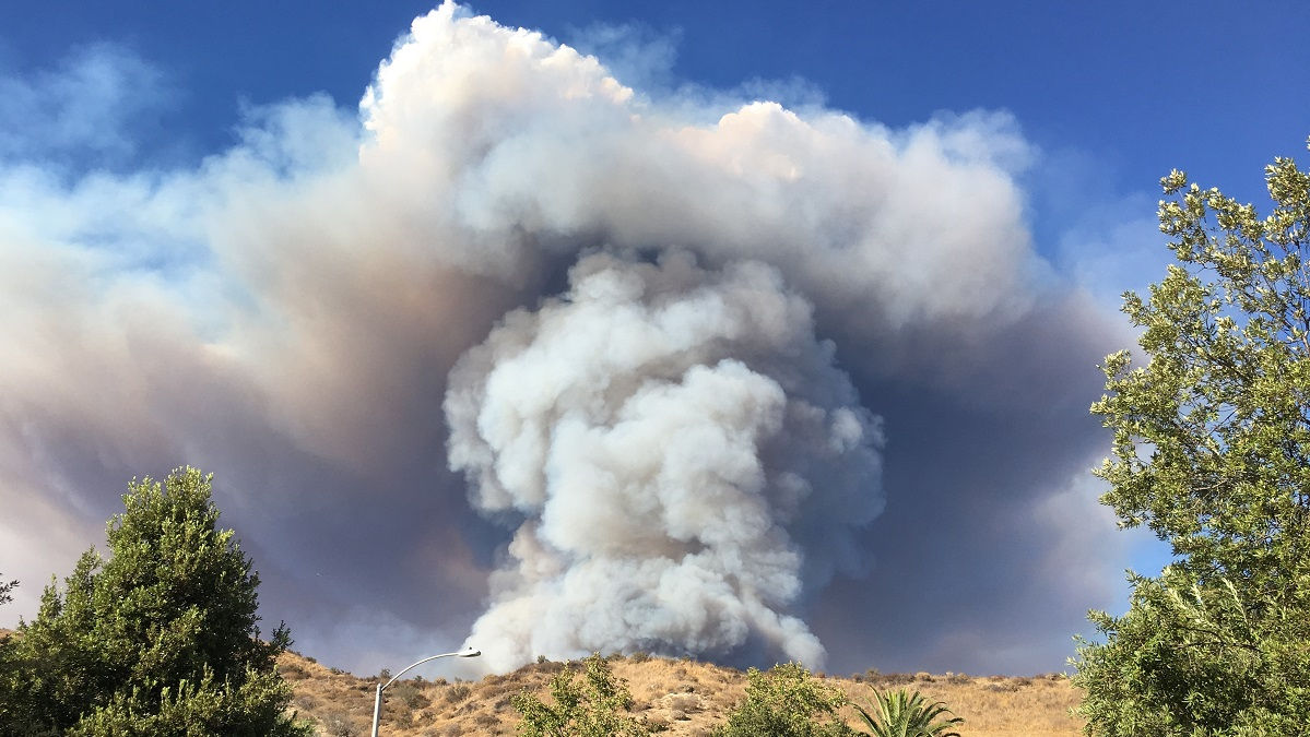 The Charlie fire in Castaic quickly grew to over 1,000 acres on Saturday Sept. 23, 2018.