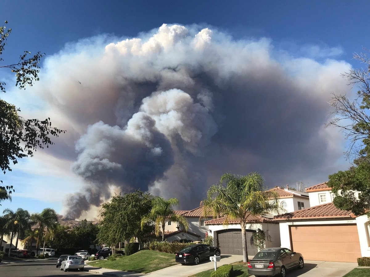 A view of the Charlie fire Saturday Sept. 22, 2018 in the Castaic area.