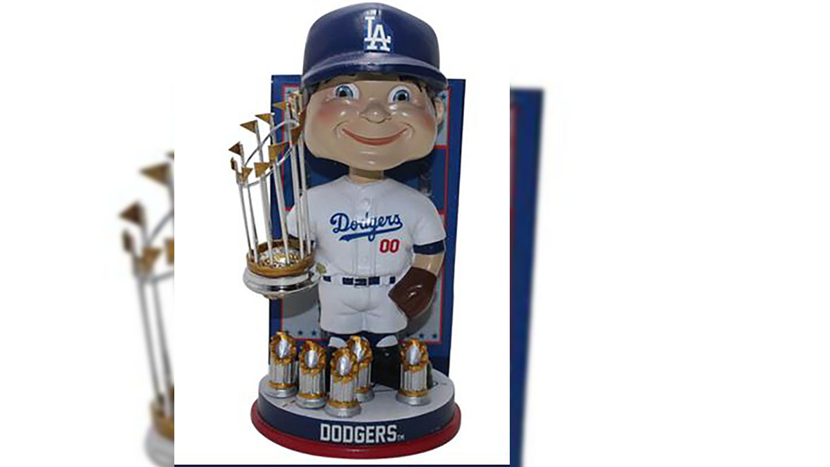 The Dodgers bobbleheads are individually numbered to only 1,000 and could soon be outdated making them a rare collector's item for Dodgers fans.