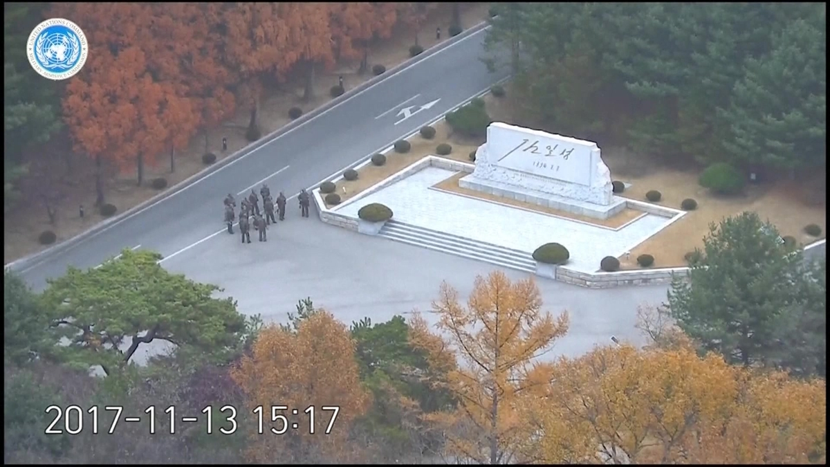 A North Korean soldier made a desperate dash to freedom and was rescued by South Korean soldiers, according to dramatic video released by the U.S.-led U.N. command Wednesday, Nov. 22, 2017.