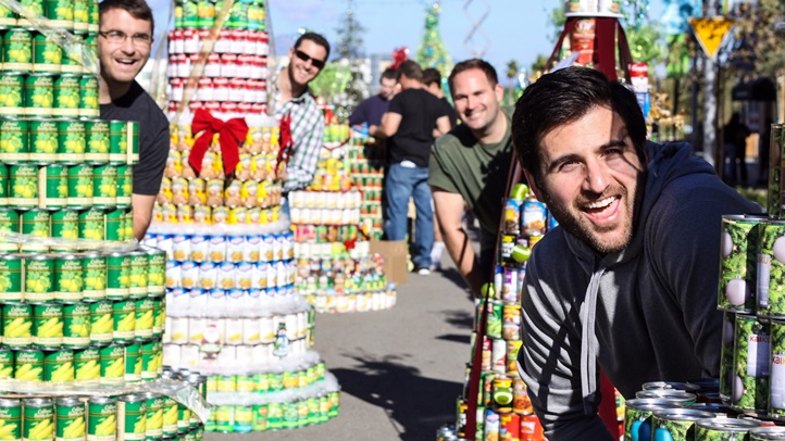Pitch in on a can tree, or donate cans, during the CAN-tree Drive in downtown Ventura from Dec. 1-3, 2017. The FOOD share drive was formerly located in Oxnard.
