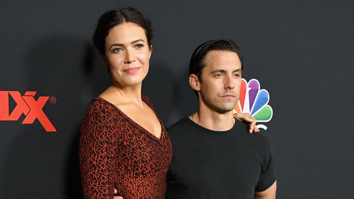 Mandy Moore and Milo Ventimiglia attend the Season 3 Premiere of NBC's
