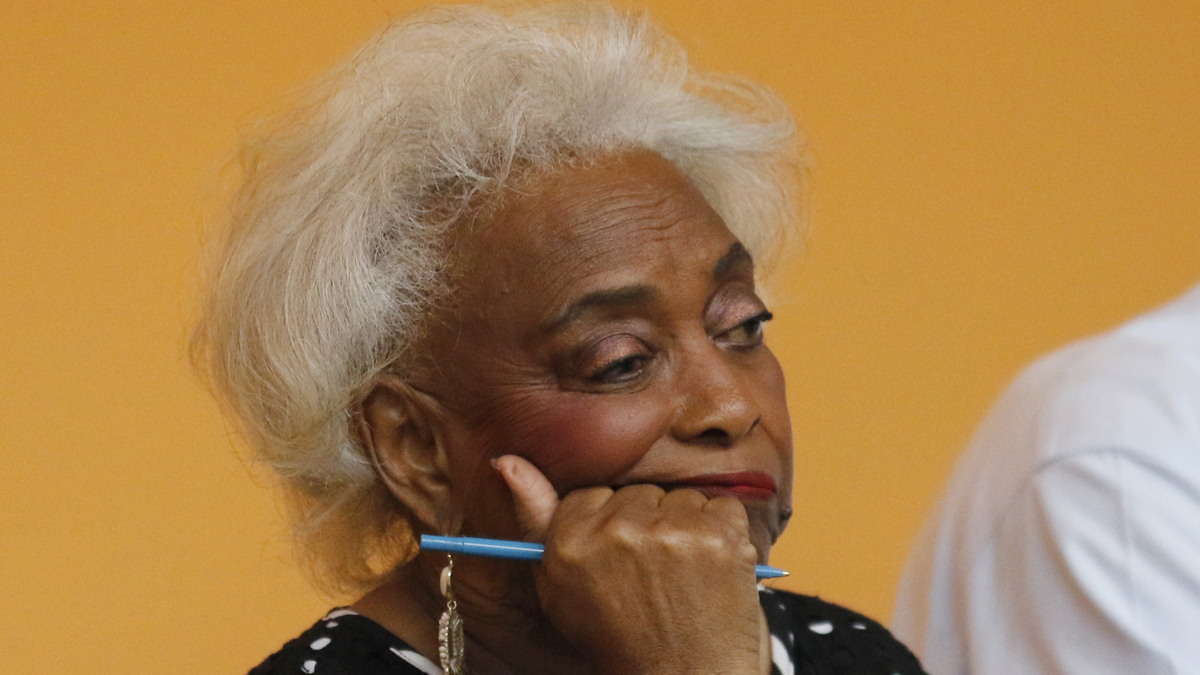 In this Nov. 10, 2018, file photo, Dr. Brenda Snipes, Broward County Supervisor of Elections, looks on during a canvassing board meeting in Lauderhill, Florida. Three close midterm election races for governor, senator, and agriculture commissioner are expected to be recounted in Florida.