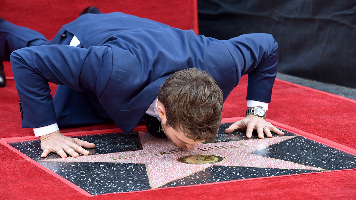 Michael Bublé is honored with a star on the Hollywood Walk of Fame on Nov. 16, 2018, in Los Angeles, California.