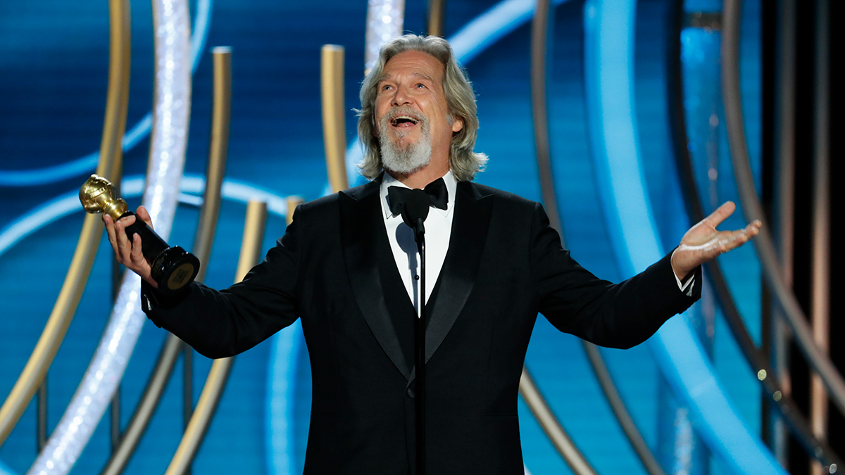 Jeff Bridges accepts the Cecil B. Demille Award onstage during the 76th Annual Golden Globe Awards at The Beverly Hilton Hotel on Jan. 6, 2019 in Beverly Hills, California.