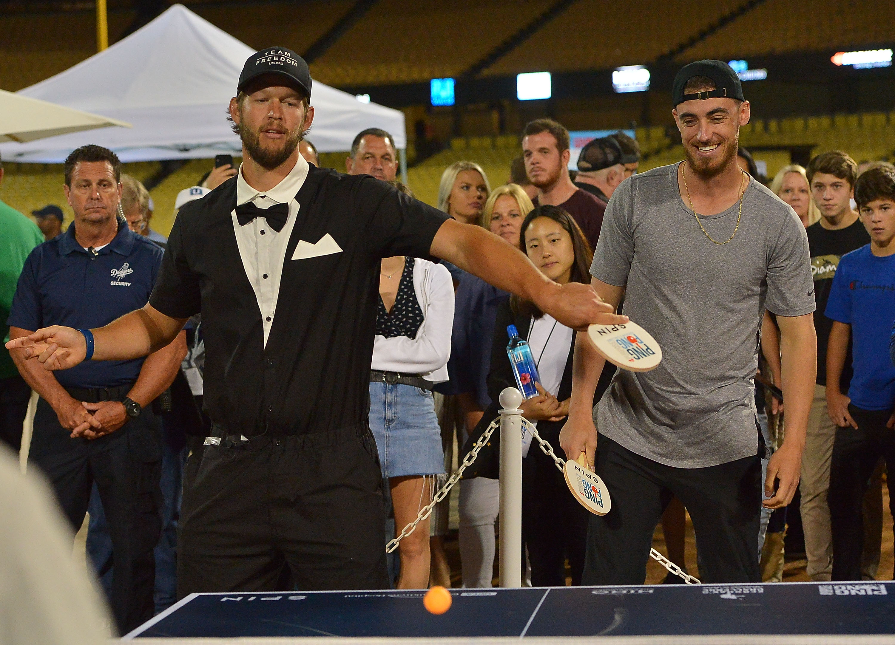 Photos: Celebrities and Sports Stars Take a Swing at Clayton Kershaw's Ping Pong Challenge
