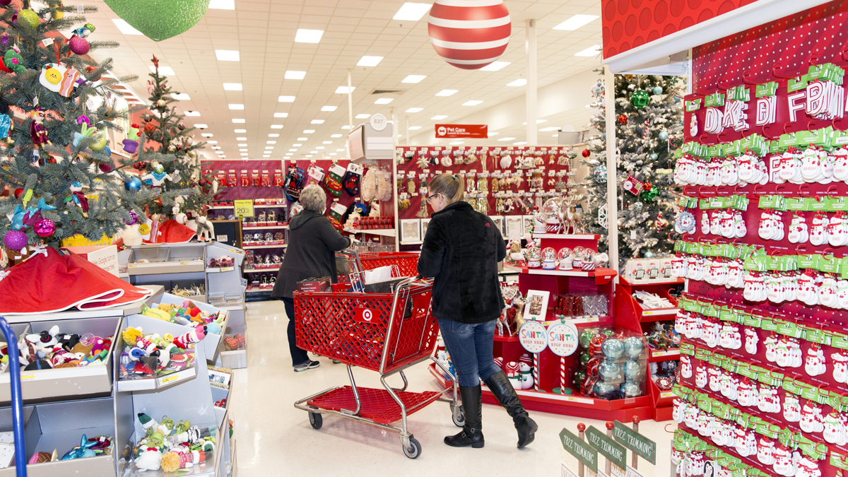 Target stores plan to hire 120,000 people during the holidays, a 20% increase from last year.