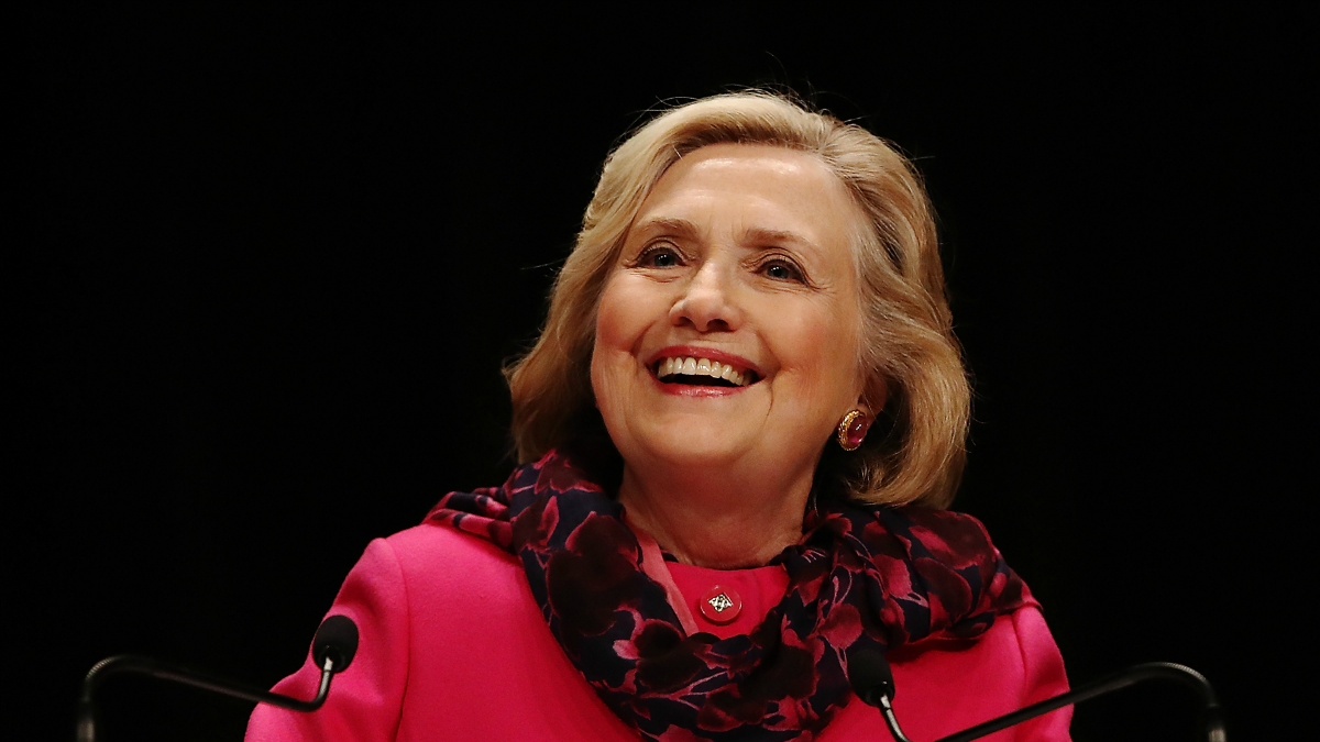 This May 7, 2018, file photo shows Hillary Rodham Clinton in Auckland, New Zealand.