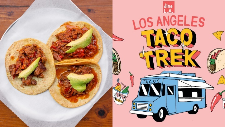 Ready for an adventure of the eat-iest kind? Go on a Taco Trek. The new guide is now available, and free, from dineLA, the food-minded arm of Discover Los Angeles.