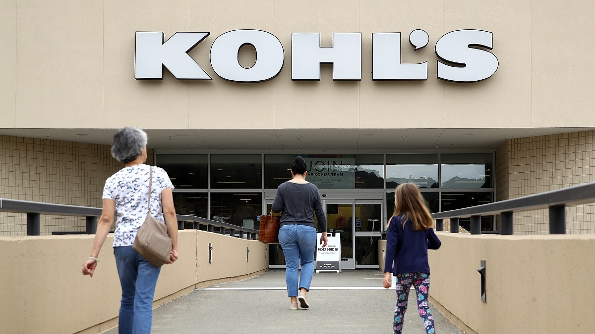 File Photo: Kohl's store on August 21, 2018 in California. Kohl's reported better than expected second quarter earnings with earnings of $292 million, or $1.76 per share. Analysts had expected $1.65 per share. (Photo by Justin Sullivan/Getty Images)