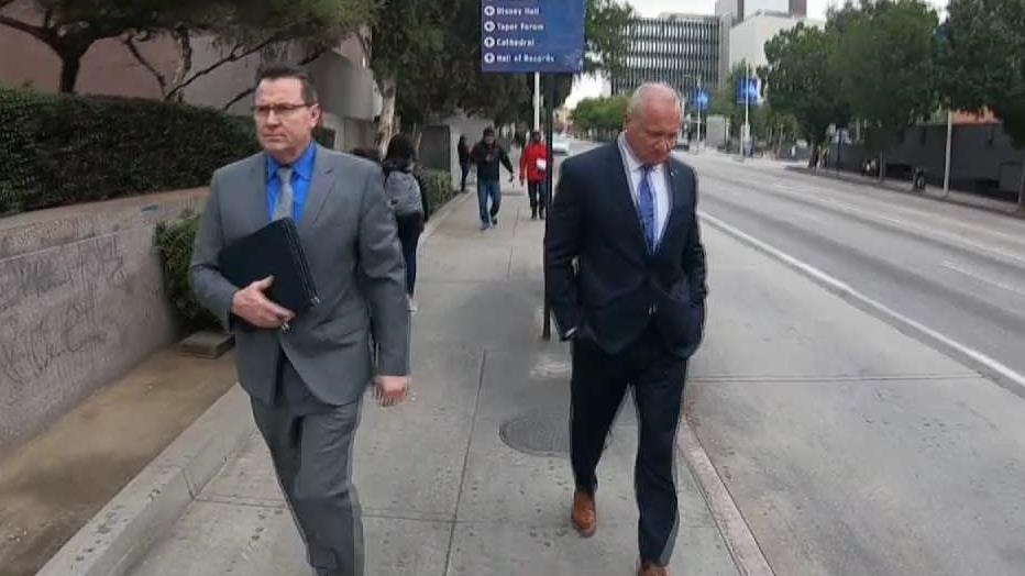 The main subject of the LAPD's internal affairs investigation is Officer Danny Reedy, right.